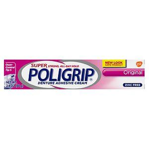 Super PoliGrip Denture Adhesive Cream, Original- 2.4 oz