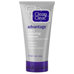 Clean & Clear Advantage 3-in-1 Exfoliating Cleanser- 5 oz