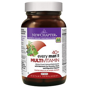 New Chapter 40+ Every Man II Multi Vitamin, Tablets- 48 ea