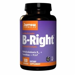 Jarrow Formulas B-Right, Low Odor B-Complex, Capsules- 100 ea