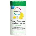 Rainbow Light Vitamin D3 1000 IU Sunny Gummies, Sour Lemon