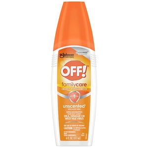 Off! Insect Repellent Spray with Aloe Vera, Unscented - 7% DEET- 6 fl oz