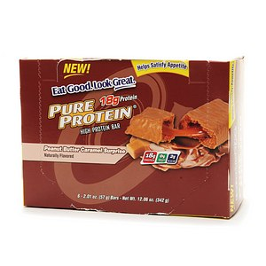 Pure Protein High Protein Snack Bar, 6 Pack, Peanut Butter Caramel Surprise, 6 ea