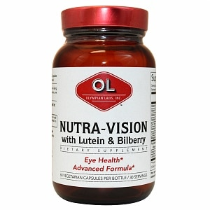 Olympian Labs Nutra-Vision Lutein & Bilberry Capsules- 60 capsules