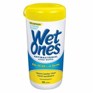 Wet Ones Antibacterial Hand Wipes, Citrus- 40 ea