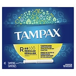 Tampax Tampons with Cardboard Applicator, Regular, 40 ea