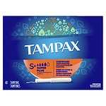 Tampax Tampons with Anti-Slip Grip Cardboard Applicator, Super Plus- 40 ea