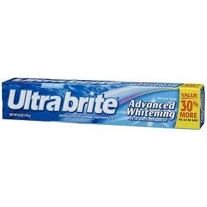 Ultra Brite Advanced Whitening Fluoride Toothpaste, Mint- 6 oz