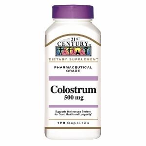 21st Century Colostrum 500 mg- 120 ea