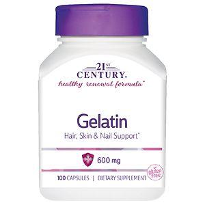 21st Century Gelatin 600mg, Beauty Capsules- 100 capsules