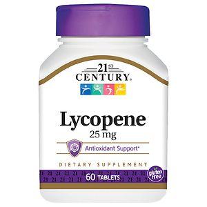 21st Century Lycopene 25mg, Maximum Strength- 60 tablets