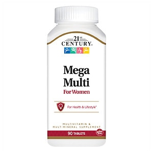 21st Century Mega Multi for Women, Multivitamin & Multimineral- 90 ea