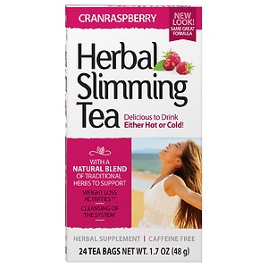 21st Century Herbal Slimming Tea, 24 pk, Cranraspberry