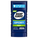 Right Guard Sport 3-D Odor Defense, Antiperspirant & Deodorant Invisible Solid, Fresh- 2.8 oz