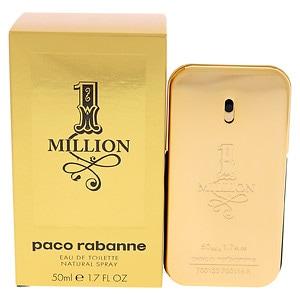 Paco Rabanne 1 Million Eau de Toilette Spray for Men- 1.7 fl oz