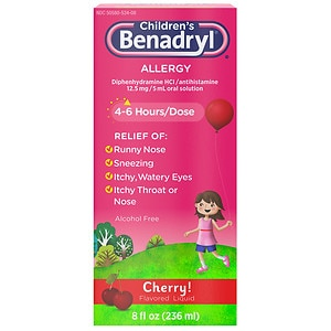 Children's Benadryl Allergy, Liquid, Cherry