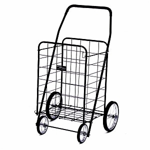 Narita Trading Company Jumbo Shopping Cart, Black