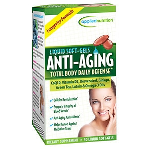 Applied Nutrition Anti-Aging Total Body Daily Defense, Liquid Soft-Gels- 50 ea