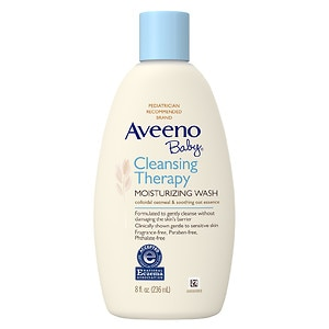 Aveeno Baby Cleansing Therapy Moisturizing Wash, Fragrance Free