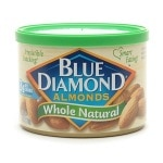 Blue Diamond Almonds, Can, Whole Natural