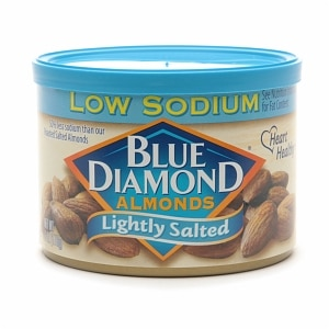 Blue Diamond Almonds, Can, Lightly Salted- 6 oz