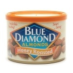 Blue Diamond Almonds, Can, Honey Roasted