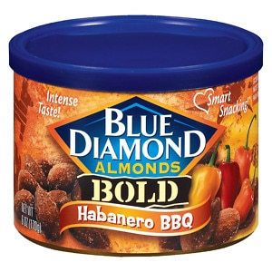 Blue Diamond Bold Almonds, Can, Habanero BBQ- 6 oz