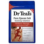 Dr. Teal's Epsom Salt Soaking Solution, Therapeutic, Soothing Mint & Rosemary- 3 lb