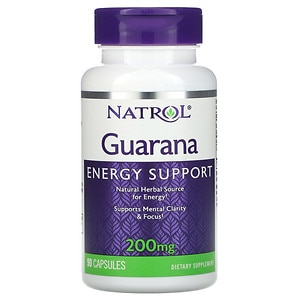 Natrol Guarana, 200mg, Capsules- 90 ea