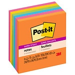 Post-it Notes , Super Sticky Notes,  Assorted, 3x3
