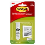 Command Strips Damage-Free Hanging:  Picture Hanging Strips, 6 medium strips