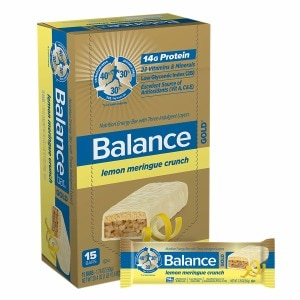 Balance Bar GOLD Nutrition Bar with Three Indulgent Layers, Lemon Meringue Crunch, 15 ea