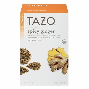 Does tazo green ginger tea have caffeine