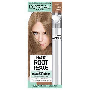 L'Oreal Paris Root Rescue 10 Minute Root Coloring Kit, Dark Blonde 7- 1 ea