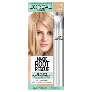 L'Oreal Paris Root Rescue 10 Minute Root Coloring Kit, Light Blonde 9- 1 ea