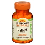 Sundown Naturals L-Lysine, 500mg