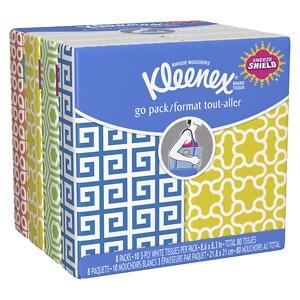 Kleenex Pocket Pack Facial Tissue, 8 pk, 10 sh