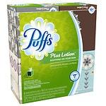 Puffs Plus Lotion Facial Tissues, Cube, 4 boxes (56 count each)- 1 ea