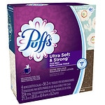 Puffs Ultra Soft & Strong Facial Tissues, 4 pk- 56 sh