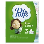 Puffs Plus Lotion Facial Tissues, 3 pk