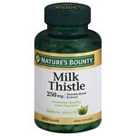 Nature's Bounty Milk Thistle, 250mg, Capsules- 200 ea