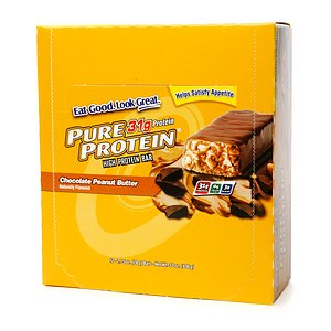 Pure Protein High Protein Meal Bar, 12 Pack, Chocolate Peanut Butter, 12 ea