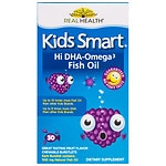 BioGlan Kids Smart Hi DHA Omega-3 Fish Oil, Chewable Burstlets, Berry