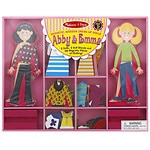Melissa and Doug Abby & Emma Magnetic Dress-Up, Ages 3+
