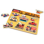 Melissa and Doug Vehicles Sound Puzzle Ages 2+- 1 ea