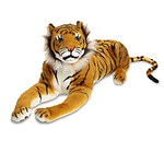 Melissa and Doug Tiger - Plush, Ages 3+- 1 ea