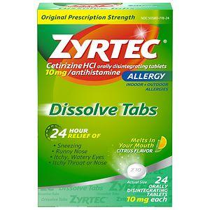 Zyrtec Allergy, Dissolve Tabs, Citrus- 24 ea