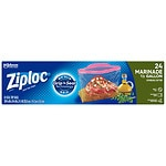 Ziploc Marinade Expandable Bottom Bags, 1/2 Gallon- 24 ea