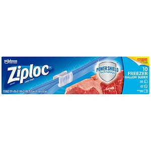 Ziploc Slider Freezer Bags, Gallon