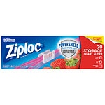 Ziploc Slider Storage Bags, Quart- 20 ea